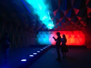 L'espace s'écoule, oeuvre@Luxelakes museum, Chengdu- Chine2015