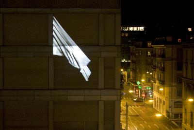 Potential Flag, Samuel Bianchini, 2008 Exposition Version bêta, Centre pour l'image contemporaine, Genève, octobre 2008.