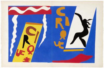 Henri Matisse, planche «Le Cirque» du livre Jazz, Paris, Tériade éditeur, 1947