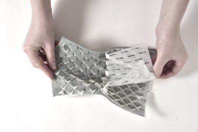Recherche textile autour du design pour désassemblage par Laetitia Forst.