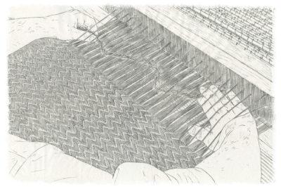 © Louise Collet, 2020, Sumi sur papier de mûrier Kashiki