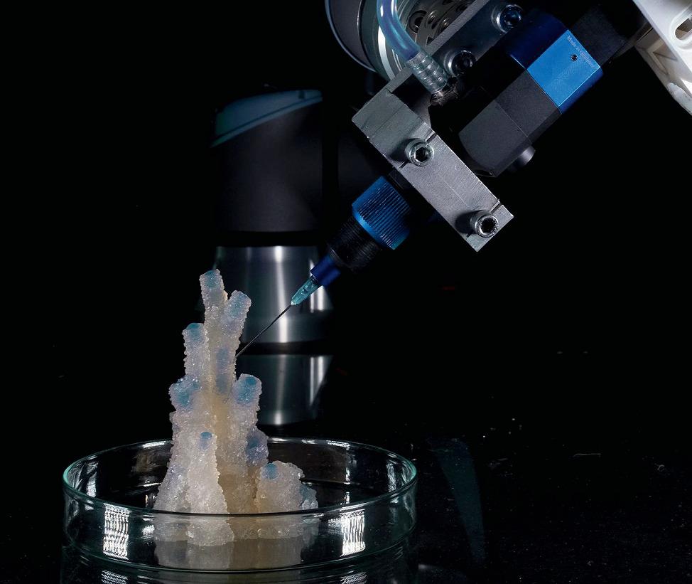 Imprimer la Lumière, micro-architecture imprimée en 3D. Crédits photo: CITA.